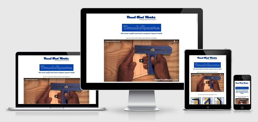 Theta Media Group Client Website Showcase | Omni Tool Works | OmniSquare Tool