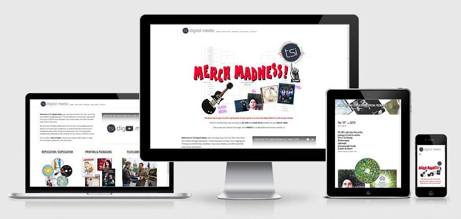 Theta Media Group Client Website Showcase | TSI Digital Media | CD/DVD/USB Manufacturing
