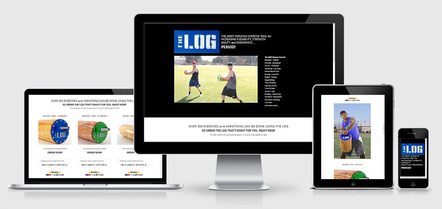 Theta Media Group Client Website Showcase | The Log Workout | Fitness Products