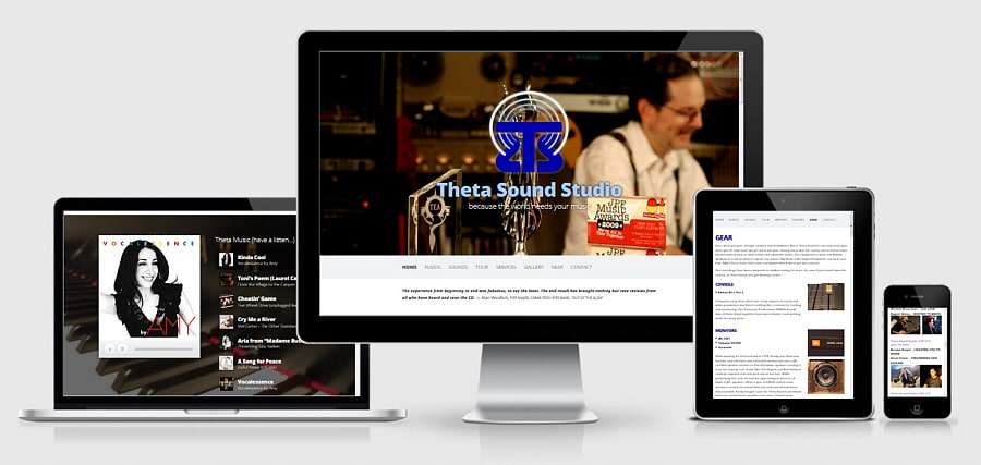 Theta Media Group Client Website Showcase   Theta Sound Studio   Audio & Video Production