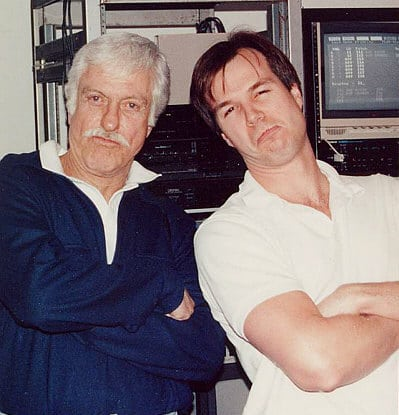Jim Latham and Dick van Dyke at Theta Sound Studio, Theta Media Group, Website Design, Branding and E-Commerce