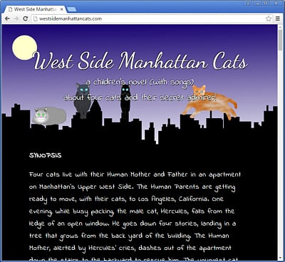 West Side Manhattan Cats | Children's Novel and Songs