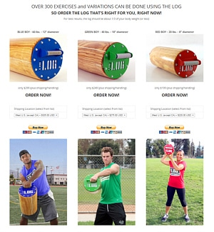 Theta Media Group Client Website Showcase | The Log Workout | Fitness Product