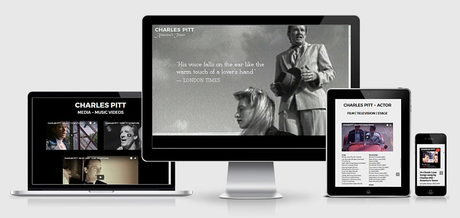 Theta Media Group Client Website Showcase | Charles Pitt | America's Tenor