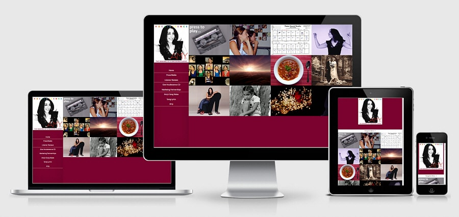Theta Media Group Client Website Showcase | Vocalessence by Amy | Recording Artist