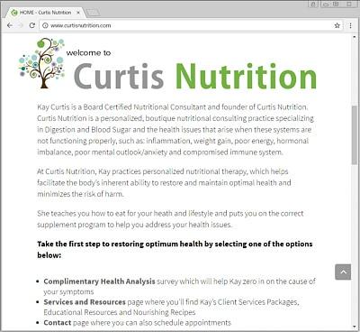Curtis Nutrition | Health & Wellness