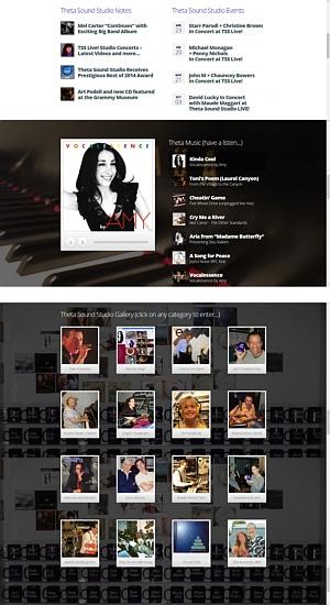 Theta Media Group Client Website Showcase | Theta Sound Studio | Audio & Video Production