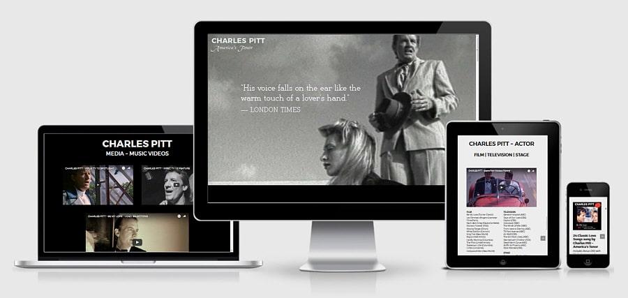 Theta Media Group Client Website Showcase | Charles Pitt | America's Tenor